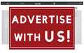 Advertise With Us Commercial Branding Persuade Concept Royalty Free Stock Photo
