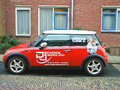 Advertisement on a car that stands in the street gorinchem netherlands february gorinchem netherlands city is located Stock Images