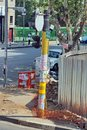Advertisements on a utility pole in Johannesburg