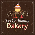 Advertising bakeries and cake banner with a a font composition Stock Image
