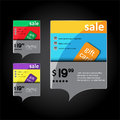 Advertising banners with gift cards Stock Photography