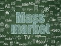 Advertising concept: Mass Market on School board background Royalty Free Stock Photo