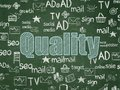 Advertising concept: Quality on School board background Royalty Free Stock Photo