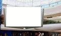 Advertising display blank billboard Royalty Free Stock Photo