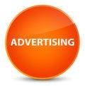 Advertising elegant orange round button