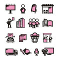 Advertising icons set author s illustration in Stock Photo
