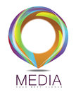 Advertising media circle logo concept creative for businesses like creative related domains Stock Image