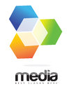 Advertising Media 3D Cube Logo Concept