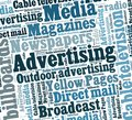 Advertising media in word collage Royalty Free Stock Photography