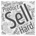 Advertising Your Memory Foam Mattress Biz word cloud concept  background Royalty Free Stock Photo