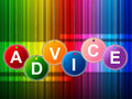 Advice advisor means inform information and answers indicating guidance support Royalty Free Stock Photo
