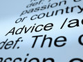 Advice Definition Closeup Showing Recommendation Help Royalty Free Stock Photo