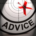 Advice means informed help assistance and support meaning Stock Photography