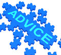 Advice Puzzle Showing Guidance And Support Royalty Free Stock Image