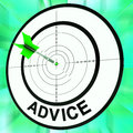 Advice Target Shows Information Faq And Assistance Stock Image