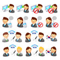 A adviser icon and various Business Man and Woman. Creative Icon Royalty Free Stock Photography