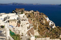 Aegean sea cycladic volcanic island of santorini located in the the greek part the cyclades islands is known as a top vacation Stock Photos