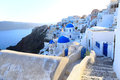 Aegean sea cycladic volcanic island of santorini located in the the greek part the cyclades islands is known as a top vacation Stock Photography