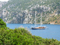 Aegean sea landscape yachting Royalty Free Stock Photo