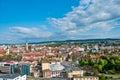 Aeral view over Cluj-Napoca, Romania Stock Image