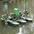 aerator paddle wheels Royalty Free Stock Photo