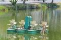 Aerator turbine wheel fill oxygen into water Royalty Free Stock Photo