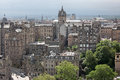 Aeriaal view edinburgh scotland uk Stock Photo