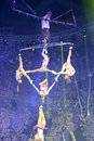 Aerial acrobatics swing of xiamen lingling circus amoy city china Royalty Free Stock Images