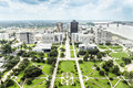 Aerial of baton rouge with huey long statue and famous skyline Royalty Free Stock Images