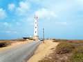 Aerial from California lighthouse on Aruba island in the Caribbean Royalty Free Stock Photo