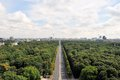 Aerial cityscape of berlin with tiergarten park germany capital city architecture view and the tv tower from the top victory Stock Photos