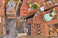Aerial cityscape view from two towers, Bologna, Italy Royalty Free Stock Photo