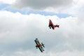 Aerial combat - Aerial acrobatics Royalty Free Stock Photo