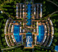 Aerial Drone Photo - Beautiful resort & pool in Costa Rica Royalty Free Stock Photo