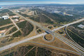 Aerial of freeway intersection in south africa port elizabeth Stock Images