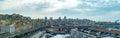 Aerial genoa town cityscape landscape Royalty Free Stock Photo