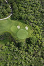 Aerial of golf course. Royalty Free Stock Photo