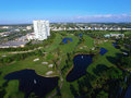 Aerial Golf course drone photo Royalty Free Stock Photo