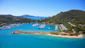 Aerial hamilton island of tropical in the whitsundays queensland australia Stock Photography