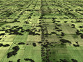 Aerial image of farmland Royalty Free Stock Photo