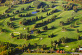 Aerial image of a golf course view stowe vermont usa Royalty Free Stock Photos