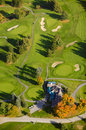 Aerial image of a golf course view stowe vermont usa Stock Photography