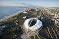 Aerial image of moses mabhida stadium durban an south africa on a clear morning Stock Photo