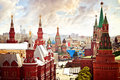 Aerial Kremlin view Royalty Free Stock Photo