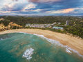 Aerial landscape of Sorrento Back beach and All Smiles wedding v Royalty Free Stock Photo