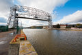 Aerial lift bridge in duluth minnesota Stock Photos