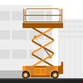 Aerial man scissor lift crane Royalty Free Stock Photo