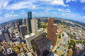 Aerial of modern buildings in downtown houston in daytime Royalty Free Stock Photo