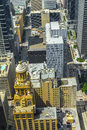 Aerial of modern and historic buildings in downtown houston in daytime Royalty Free Stock Images