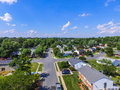 Aerial of a Neighborhood in Parkville in Baltimore County, Maryl Royalty Free Stock Photo